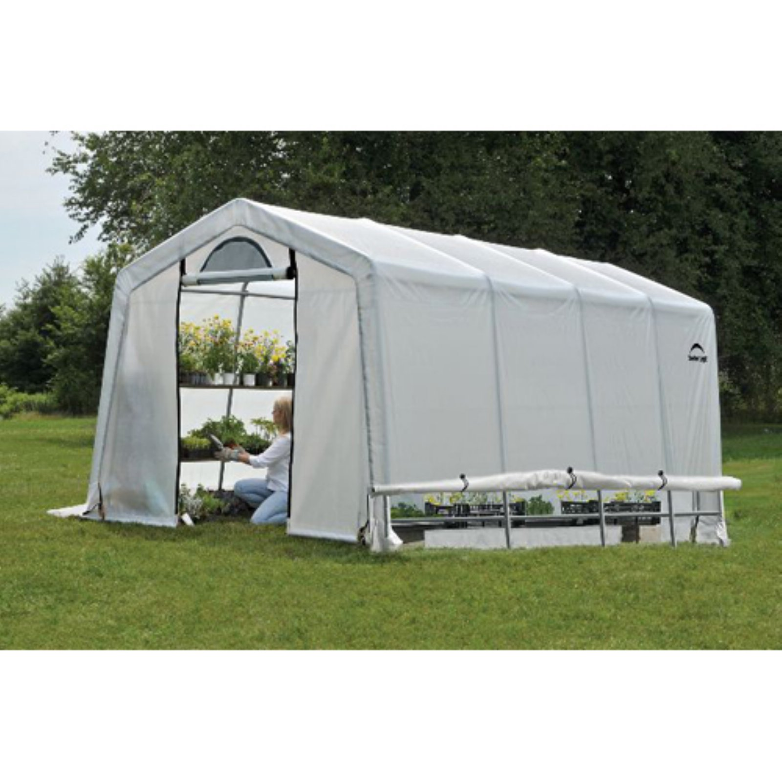 GrowIt Greenhouse-In-A-Box Easy Flow Greenhouse Peak-Style, 10' x 20' x 8'