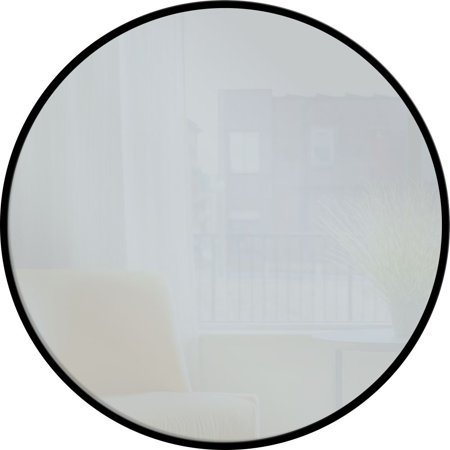 "PTM Images,28"" Round Metal Mirror - Black"