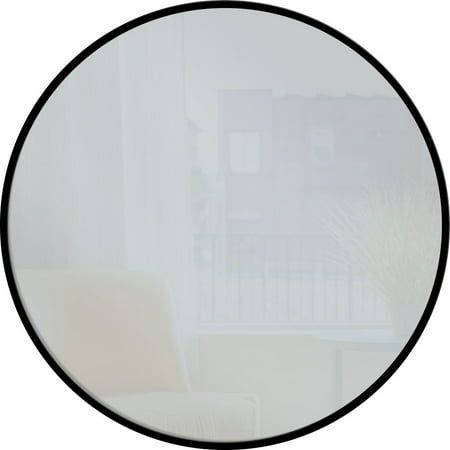 PTM Images Round Mirror II, Black ()