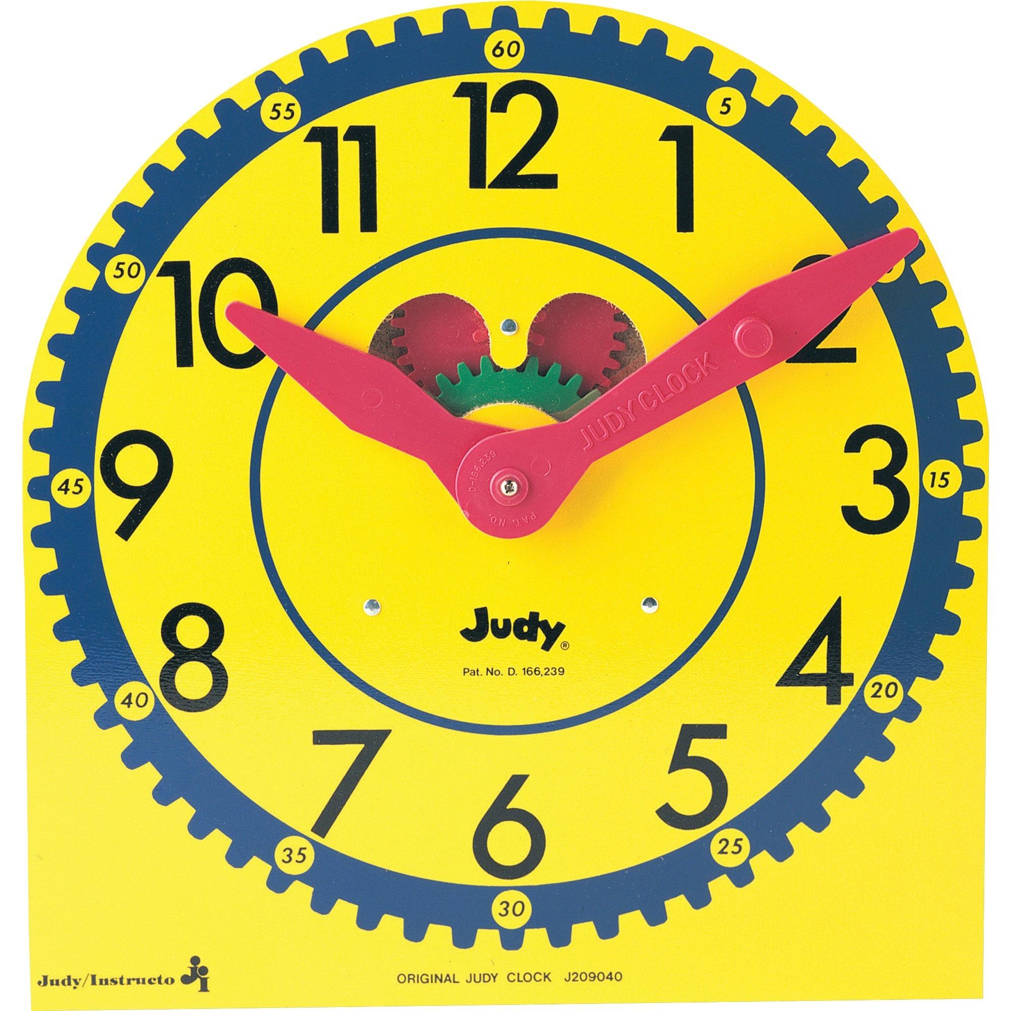 Carson-Dellosa, CDP0768223199, Original Judy Clock, 1 Each, Multi