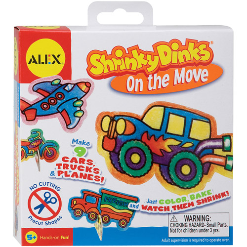 ALEX Toys - Shrinky Dinks Kit, On The Move Jewelry