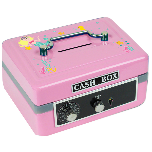 Personalized Blonde Mermaid Princess Cash Box