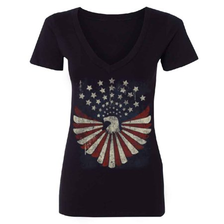 Vintage American Flag Eagle Star Women