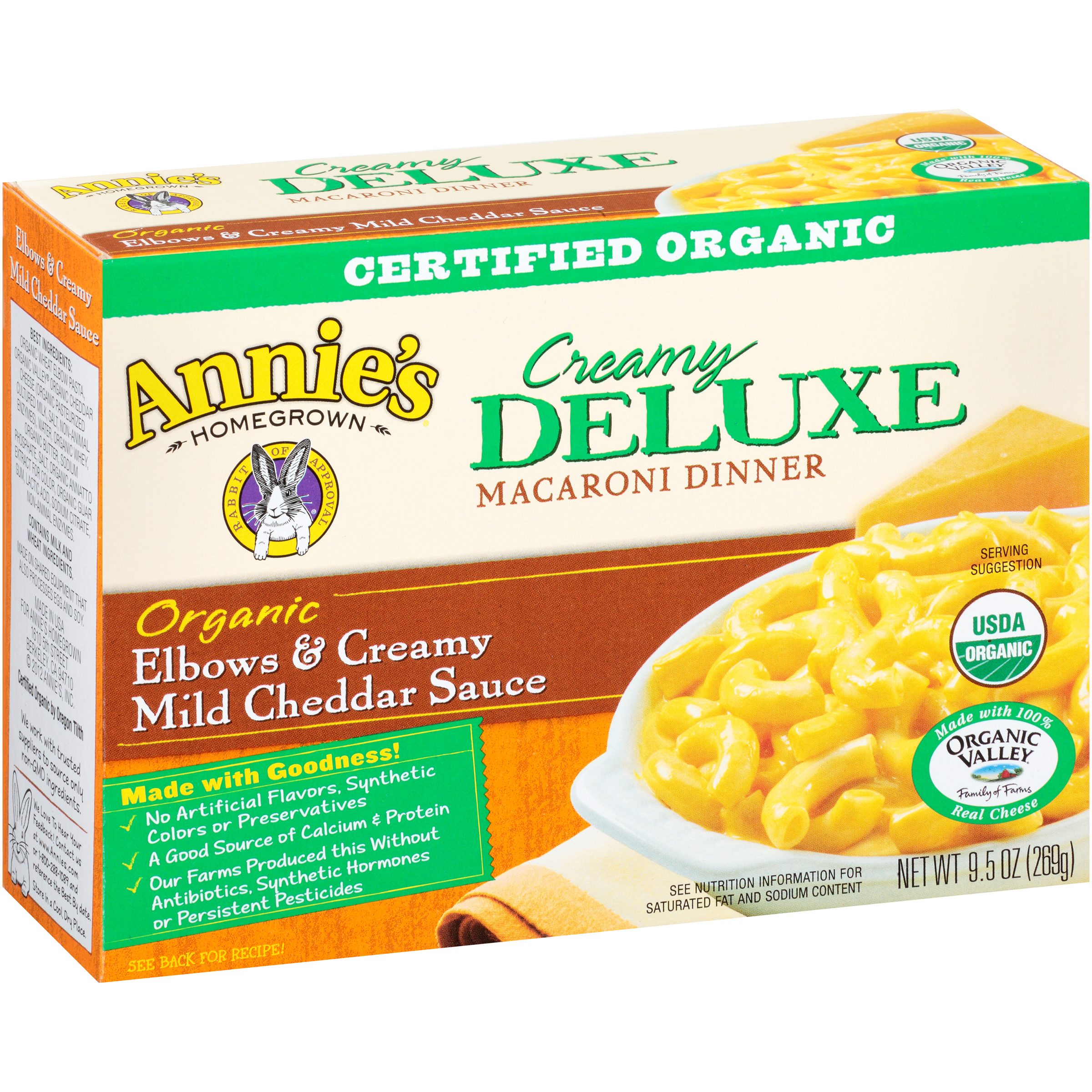 Annie's�� Creamy Deluxe Elbows & Creamy Mild Cheddar Cheese Sauce Macaroni Dinner 9.5 oz. Box