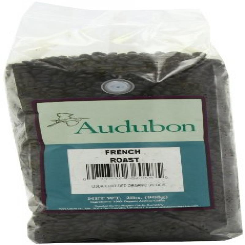 Audubon Whole Bean Coffee, French Roast, 32 Ounce