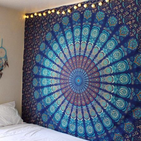 Indian Mandala Tapestry Hippie Wall Hanging Bohemian Bedspread Home Decor