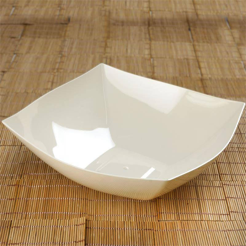 Efavormart 12 Pcs - Square 4qt Disposable Plastic Serving Bowl