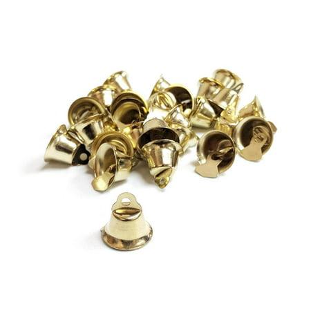 Mini Wedding Bridal Guest Favor Bells, Gold, 1/2-Inch,