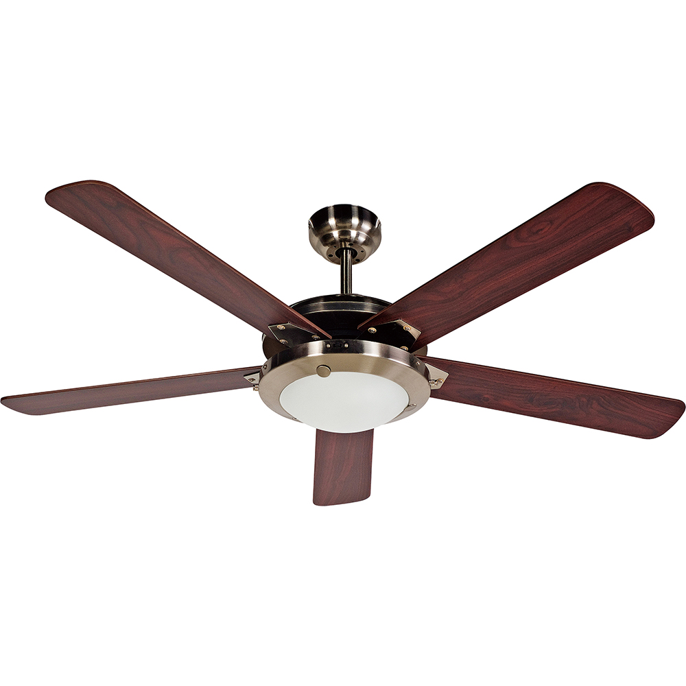 "Design House 154336 Eastport Ceiling Fan 52"", Satin Nickel"