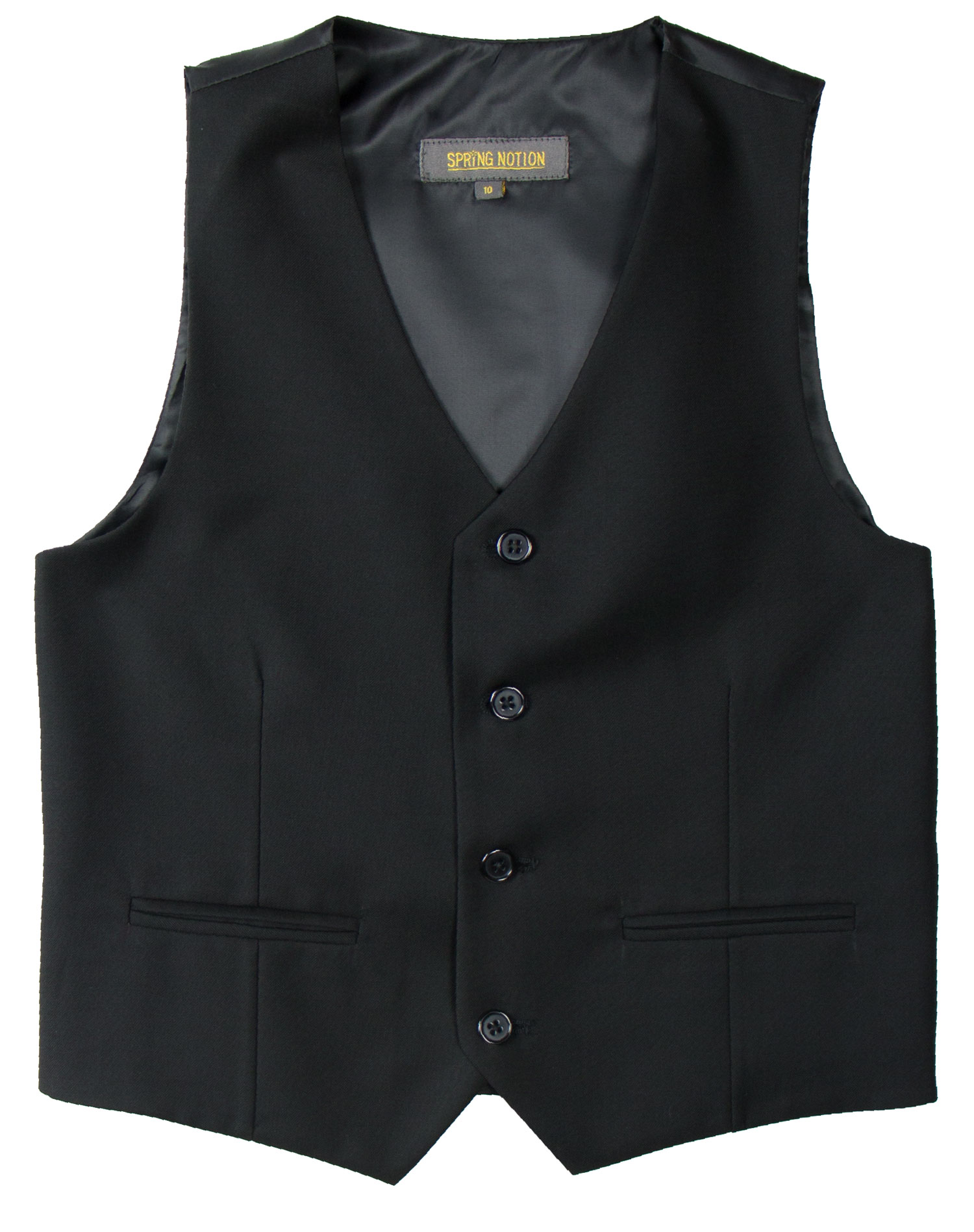 Spring Notion Big Boys' Two Button Suit Vest, Charcoal