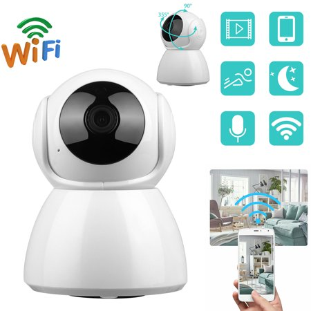 EEEkit 720P Wireless IP Camera, WiFi HD Home Security Monitoring Systems, 360 Degree Panoramic View Angle Nanny Cam with Motion Detection, Night Vision, Two-Way Audio for Baby/Elder/Pet