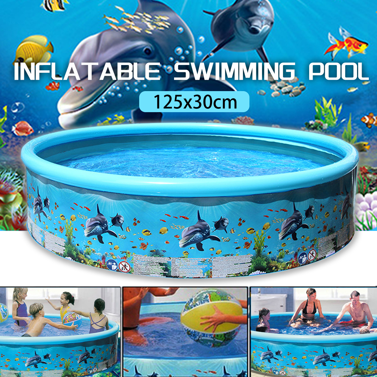 49*11.9inch Swimming pool Inflatable Swimming Pool Blow Up ...