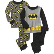 Baby Toddler Boy Long Sleeve Cotton Tight Fit Pajamas, 2-Sets
