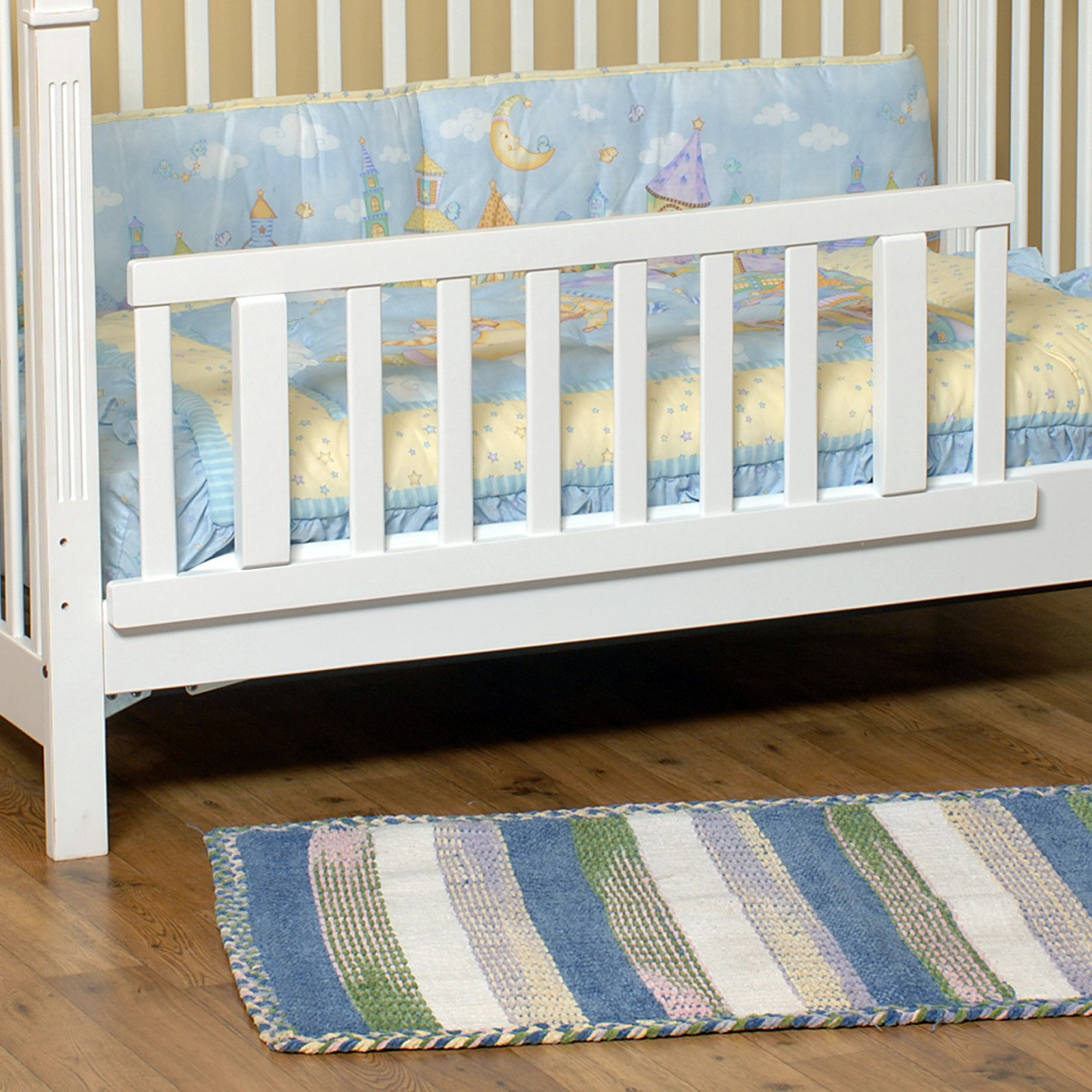 Child Craft Logan Toddler Bed Rails, Matte White