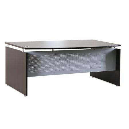 Quantum Bow Front Desk (Alera Sedina Series Bow Front Desk Shell, 72w x 42d x 29 1/2h, Espresso)