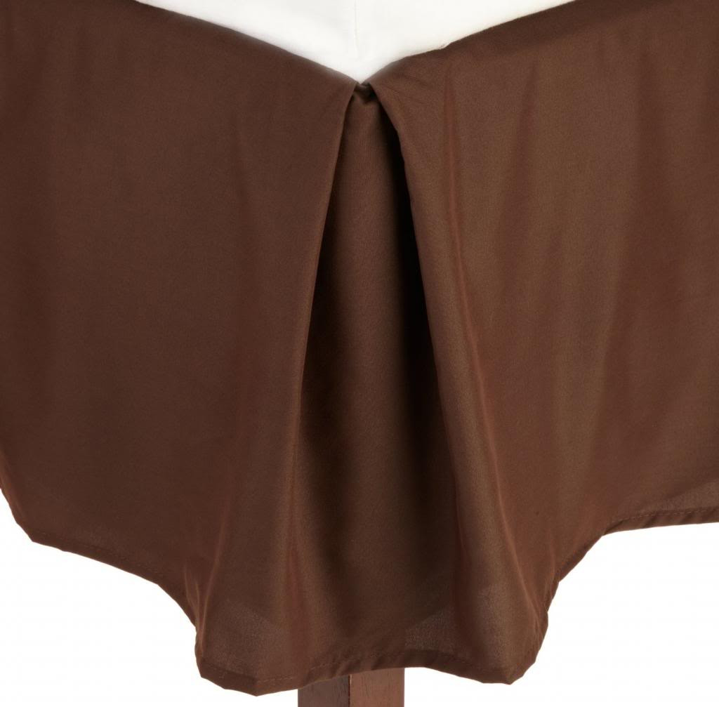 Clara Clark Solid Bedskirt Dust Ruffle Full Size, Chocolate Brown by Clara Clark