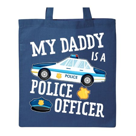 My Daddy is a Police Officer Tote Bag Royal Blue One Size