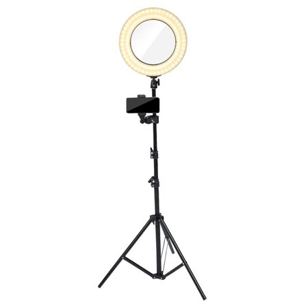 Ashata Dual Sides Makeup Mirror Dimmable Led Multicolor Ring Light