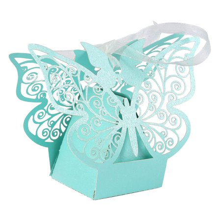 Butterfly Birthday Party Ideas (10pcs Birthday Wedding Party Hollow Butterfly Candy Ribbon)