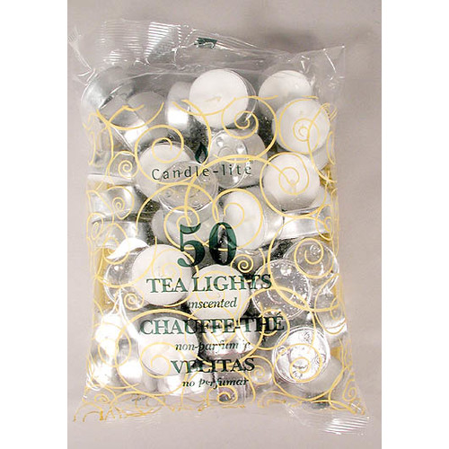 TEALIGHTS 50CT PACK WHITE