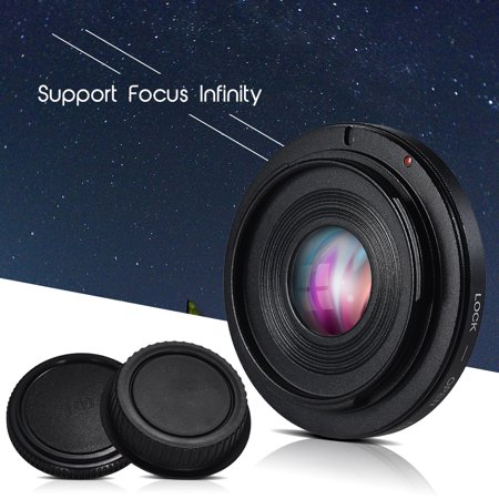 FD-EOS Lens Mount Adapter Camera Lens Adapter Ring with Optical Glass Focus Infinity FD Lens to EOS EF Mount Body for Canon 450D 50D 5D 5D2 500D 550D 600D 650D 6D 70D 700D