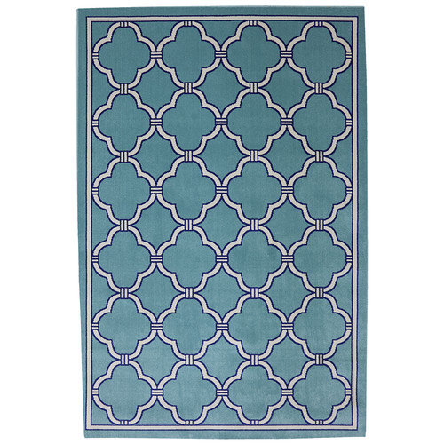 Mohawk Home Outdoor Patio Woven Parsonage Winter Mist Rug