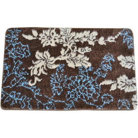 fashion everrouge memory foam floral bath rug