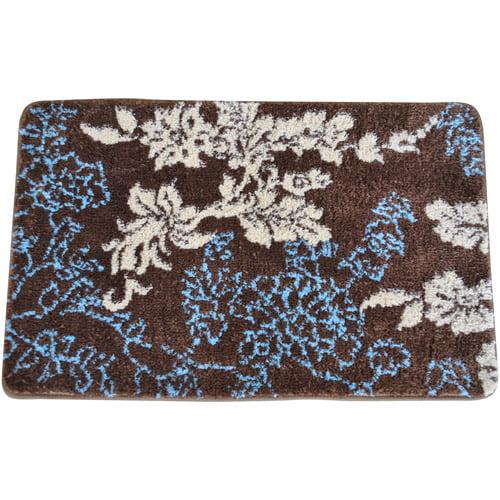 fashion street everrouge memory foam floral bath rug - walmart