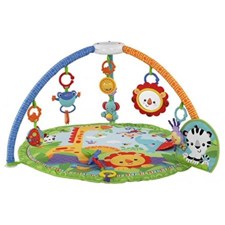 fisher-price rainforest friends musical gym (discontinued by (Fisher Price Rainforest Friends Crib To Floor Mobile)