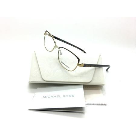 Michael Kors New Authentic Grace Bay Chocolate Gold Tortoise Women Eyeglasses Mk7005 1049 54 16 140