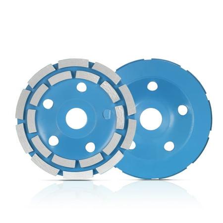 "125mm 5"" Diamond 2 Row Segment Grinding Wheel Disc Bowl Shape Grinder Cup 22mm Inner Hole for Concrete Granite Masonry Stone Ceramics Terrazzo Marble Building Industry - image 4 de 7"