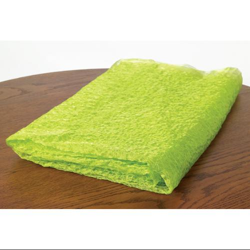 Pack of 2 Lime Light Green Embroidered Organza Fabric Overlays