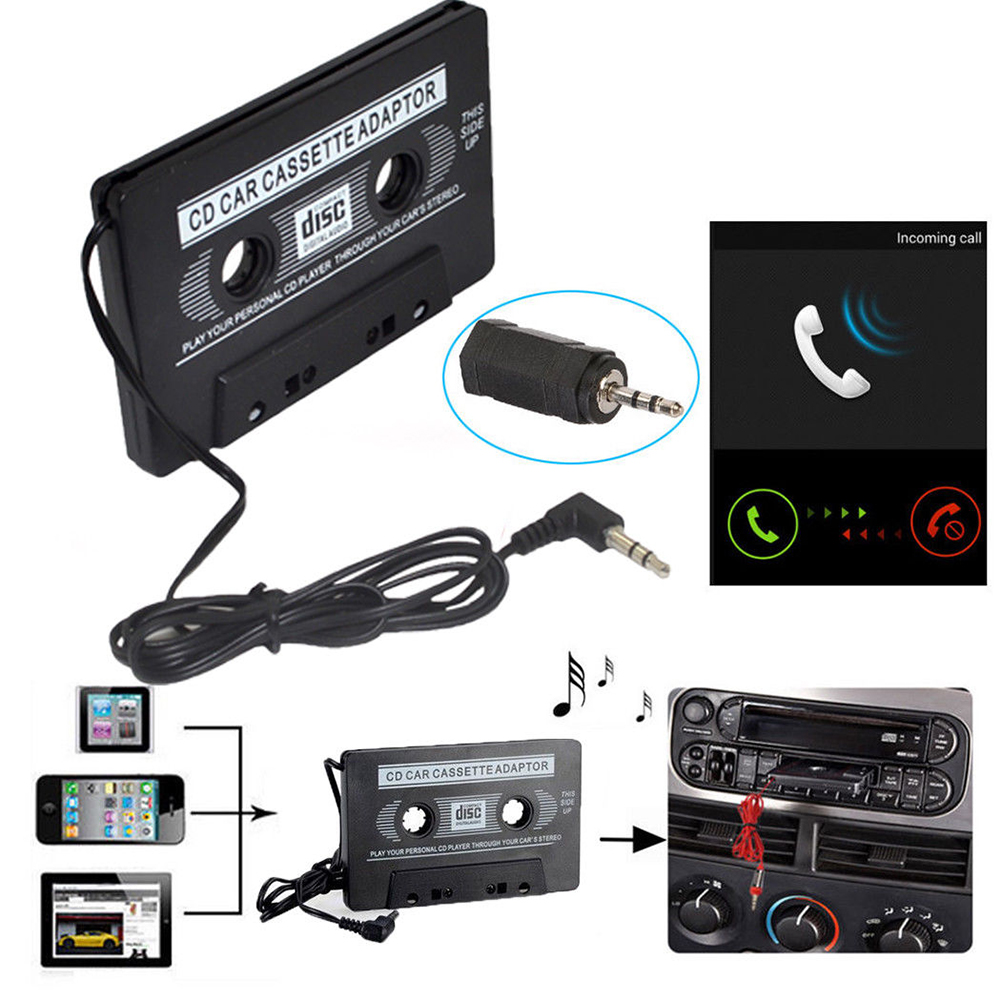 OBEST Car Cassette Adapter Travel for Cars 3.5 mm Cable For iPod iPhone MP3 AUX Cable CD Player Jack Plug