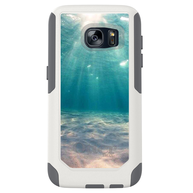 DistinctInk™ Custom White OtterBox Commuter Series Case for Samsung Galaxy S7 - Underwater Sun Sand
