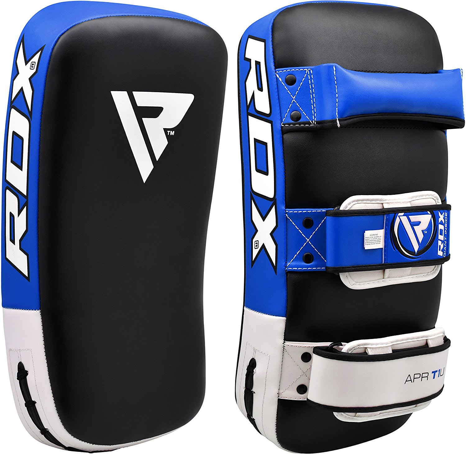 RDX Maya Hide Leather Thai-Kick Pads, Blue (Sold as SINGLE ITEM)