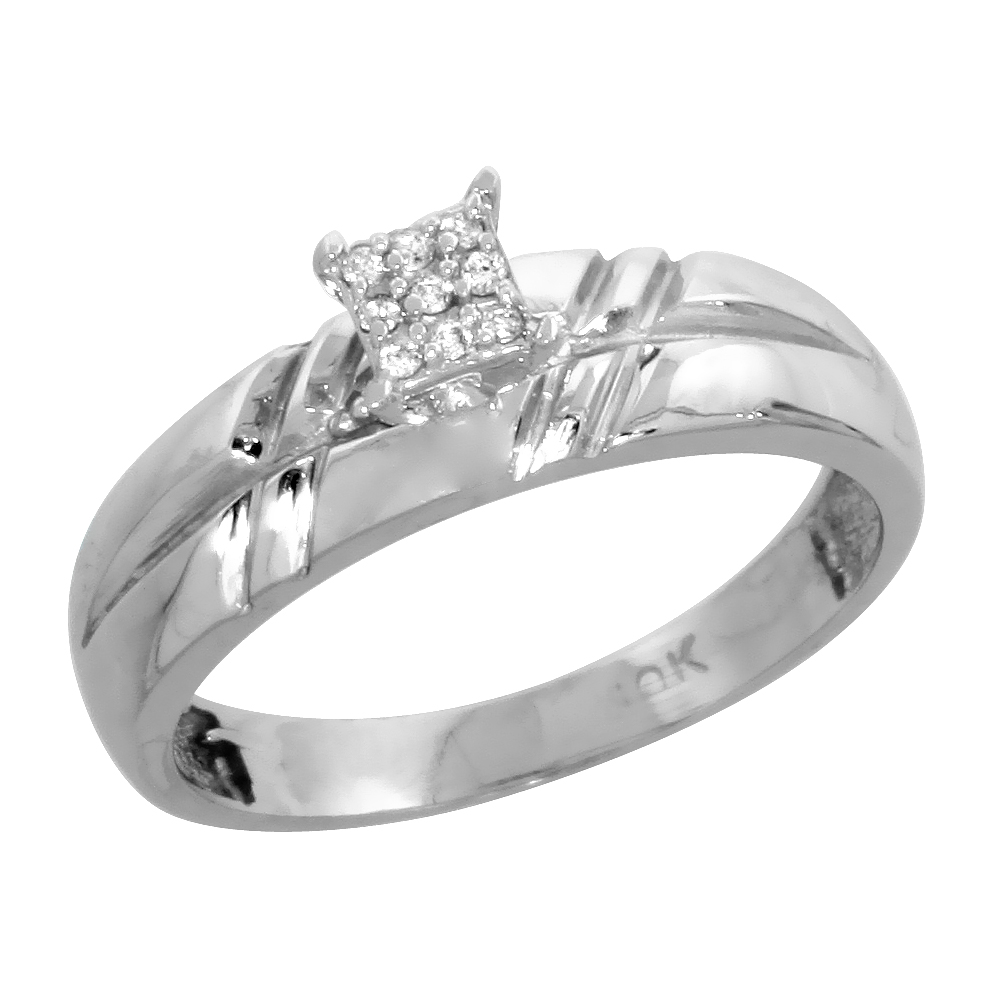 size 5.5 wide 5//32 in. 14k White Gold Ladies Diamond Wedding Ring Band 4.5mm w// 0.013 Carat Brilliant Cut Diamonds