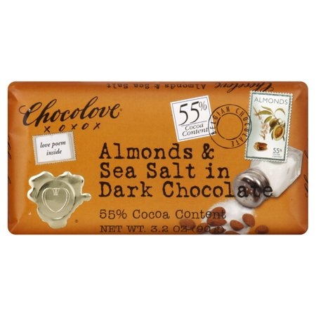 Chocolove Almonds & Sea Salt in Dark Chocolate, 3.2 (Dark Chocolate Turbinado Sea Salt Almonds Costco)