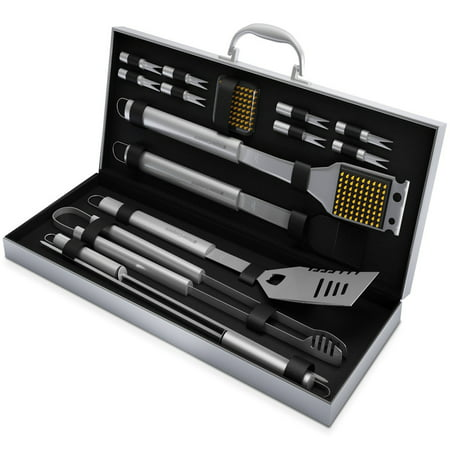16pc Stainless Steel BBQ Grill Tool Set By Home-Complete