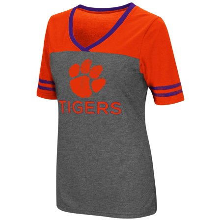 - Ladies Colosseum Mctwist Clemson University Tigers Jersey T Shirt