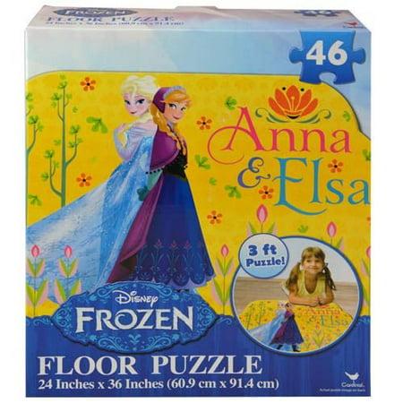 Disney Anna and Elsa 46-Pieces Frozen Floor Puzzle - 24 x 36 Inches - Frozen Center Pieces