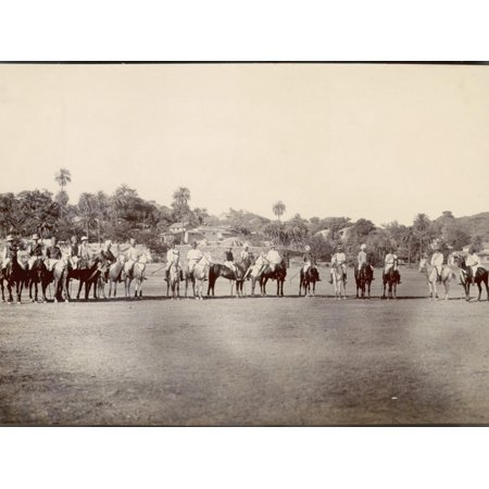 - A Group of Indian And, One Presumes, British Polo Players Line Up on the Field in India Print Wall Art