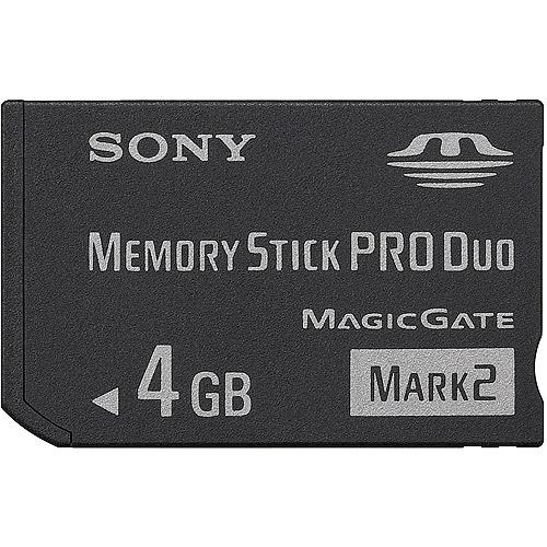 Sony MSMT4G/TQ 4 GB Memory Stick PRO Duo