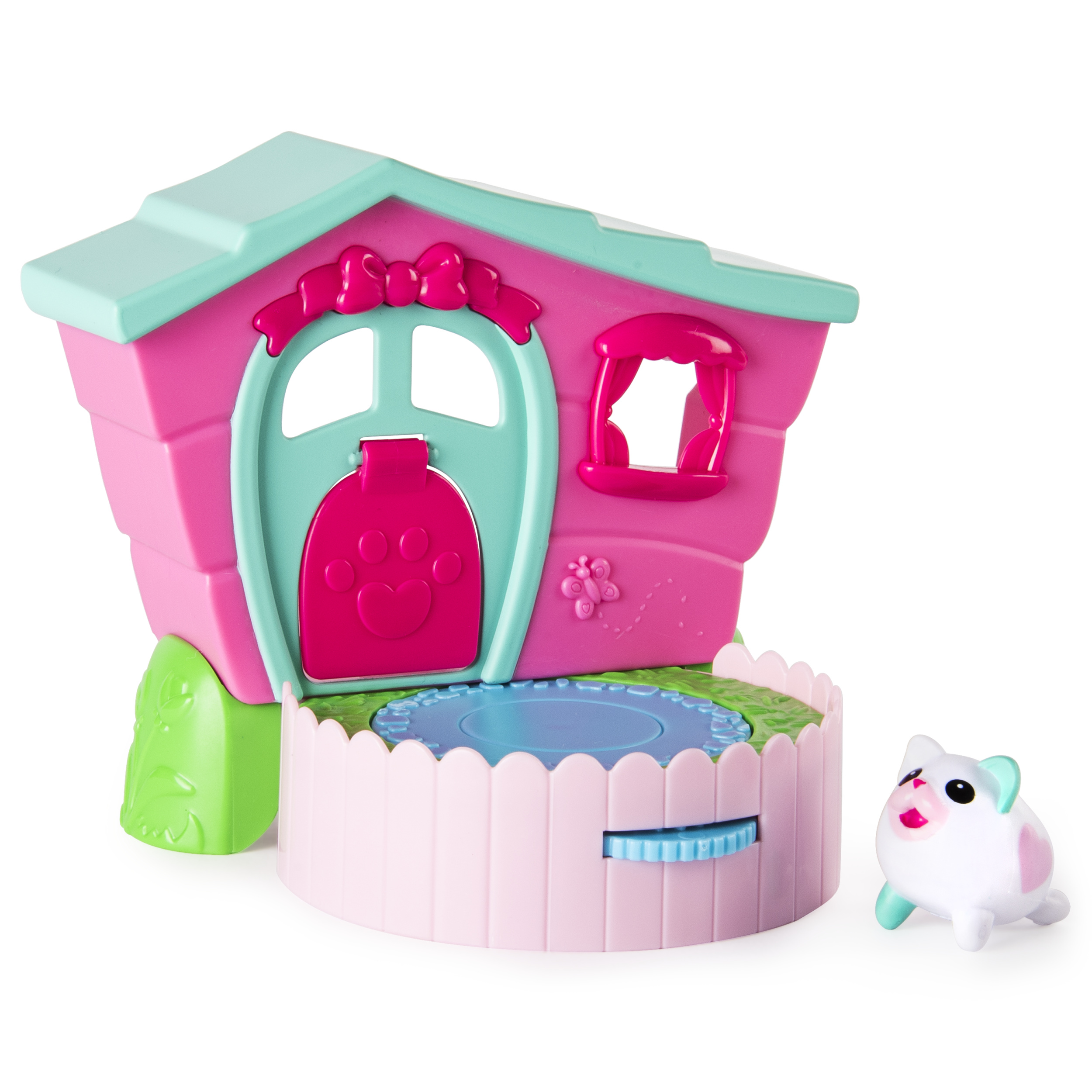 Chubby Puppies & Friends – 2-in 1 Flip N' Play House Playset with Valentia Kitty Collectible Figure