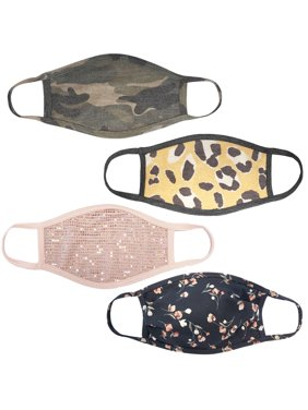 4Pcs Back to school special sale unisex Cloth Mix Camo Flower Print face mask Protect Reusable Comfy Washable Made In USA masks