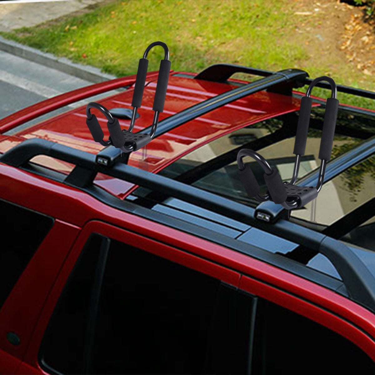 4Pairs Canoe Boat Kayak Roof Rack Car SUV Truck Top Mount Carrier J Cross Bar US