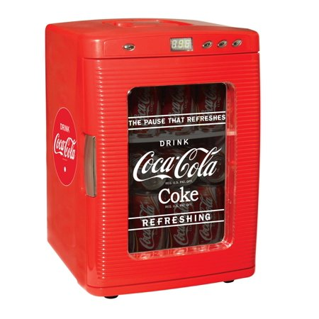 Coca-Cola KWC25 28 Can AC/DC Cooler with LED Display by Koolatron (26 Quarts/25