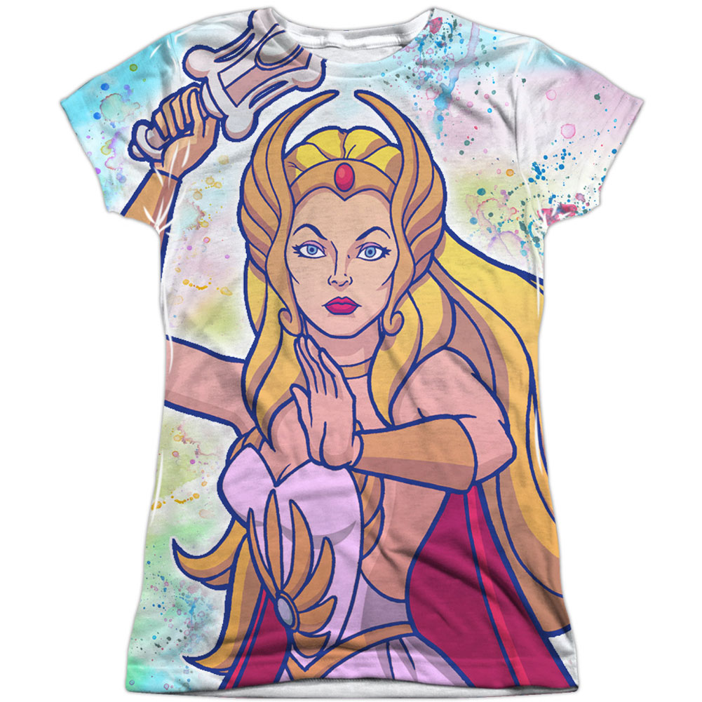 She Ra  Title Girls Jr Sublimation White