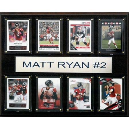 C Collectables Nfl 12X15 Matt Ryan Atlanta Falcons 8 Card Plaque