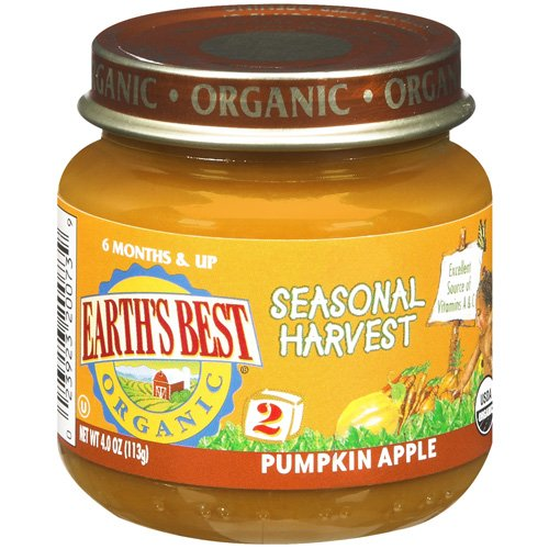 Earth's Best Organic Pumpkin Apple Seasonal Harvest, 4 oz