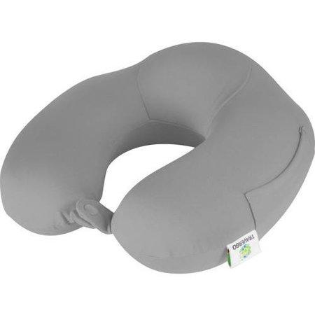 TraverGo Memory Foam Spandex Neck Pillow, Gray TR1080GY